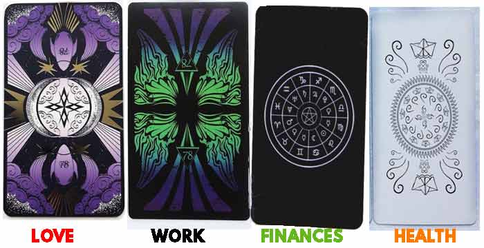 Free card reading about economy, work, love and happiness