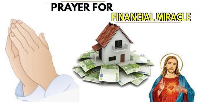 Prayer for financial miracle