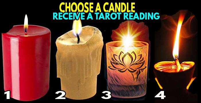 ☯ Choose a CANDLE to receive an accurated TAROT READING