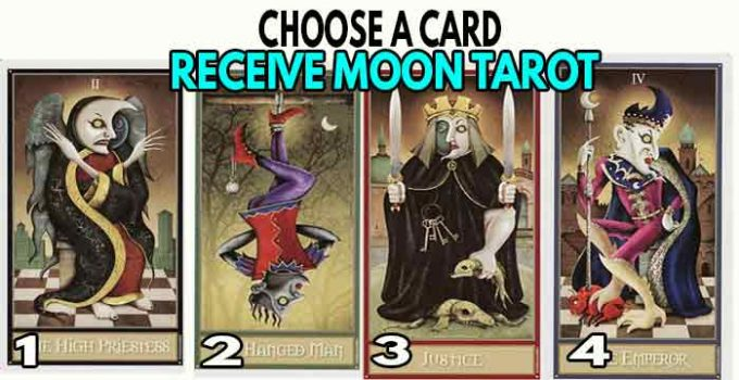 The moon tarot